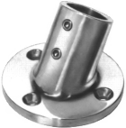 Stainless Steel Rail fittings 60 deg Round base