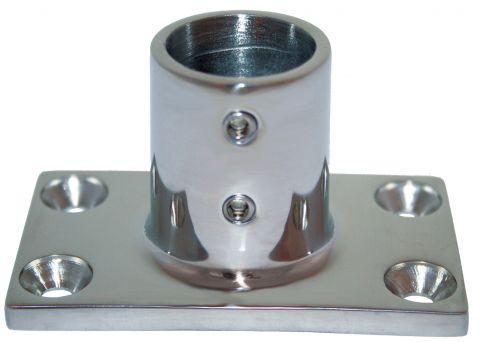 Cast 316 Grade Stainless Steel Rail Fittings  90 Degree Rect. Base-RWB1127