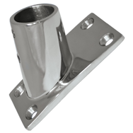 Stainless Steel Rail fittings 60 deg rectangular base