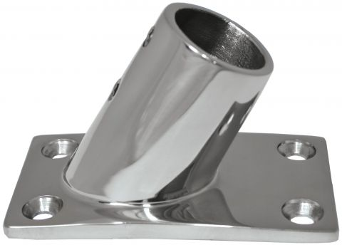 Cast 316 Grade Stainless Steel Rail Fittings 60 Degree Rect. Base-RWB1129