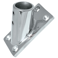 Stainless Steel Rail fittings 45 deg rectangular base