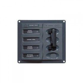 Shore Power Contour AC Circuit Breaker Control Panels 2+mains