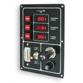 3 Switch Panel with Meter and Lighter Socket