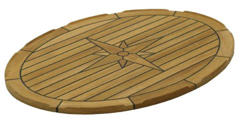Marine TEAK Table tops Eleptical 139436 139438