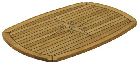 Marine TEAK Table tops Half Elipse 139440 139442