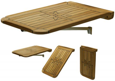Marine TEAK Table tops Folding Balcony  139462