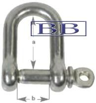 Standard 'D' Shackle-Captive Pin 5mm TO 10mm