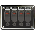 Marine Switch Panel Splashproof with LED in 3-4-6 switch