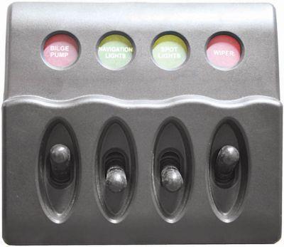 Marine Switch Panel Splashproof Backlit  in 4-6 switch