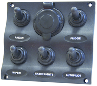 Marine Wave pattern switch panels 3-5-6 with socket in 3-5