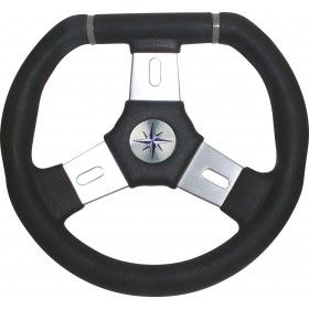 Boat steering wheel ELBA three spoke aluminium 2 sizes