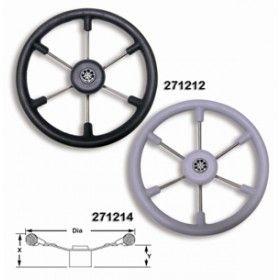 Boat steering wheels Leader S/S  steering Wheel Black Grey or White 350mm
