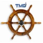 Boat Steering Traditional Timber Wheel