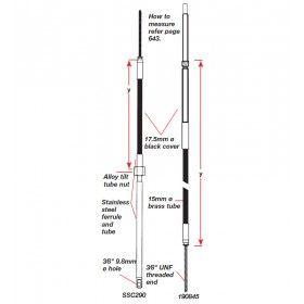 Teleflex Command D290 steering cables 9-25ft D345