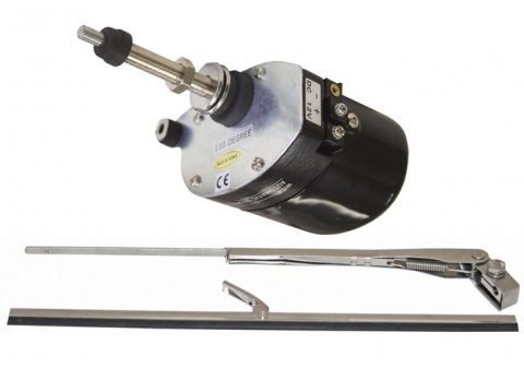 Marine Windshield Wiper Kit with Motor Switch - 12v rwb2849