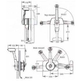 SL-3 side mount single engine control