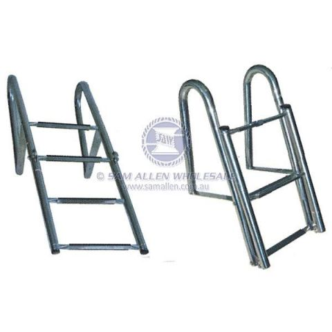Ladder Telescopic Boarding Ladder with rail - Stainless Steel