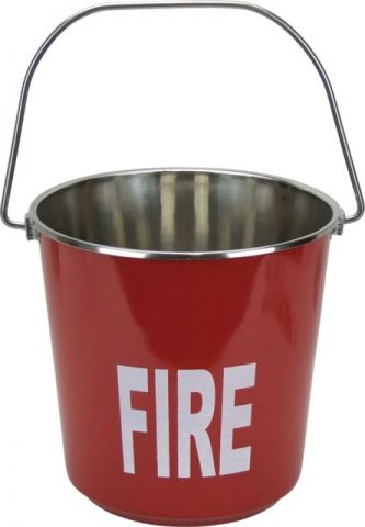 Stainless Steel 9 ltr Buckets Plain and Fire