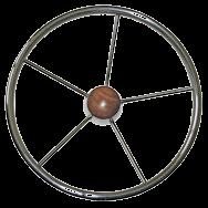 Marine Steering wheel Five Spoke S/S - 385mm rwb667