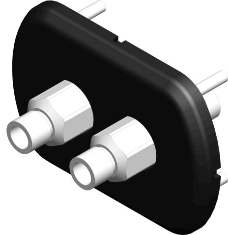 Hydraulic Thru-BulkHead Fitting