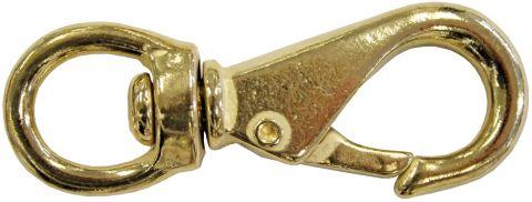 Swivel Eye Snap Hooks - Brass