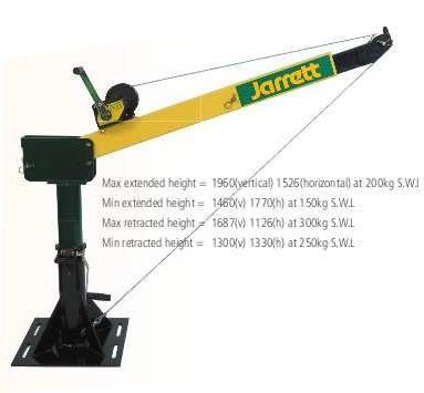 Backsaver cranes by Jarret 300kg Backsaver Crane Manual Lift and Turn (galvanised) F12643G