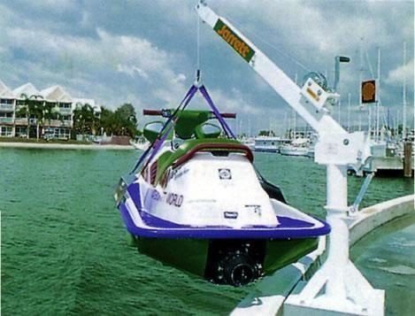 Back saver cranes Jarret 300kg  Manual Lift and Turn (powdercoat white) F13643W