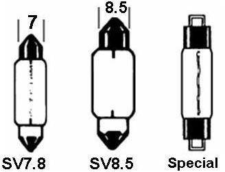 Festoon Bulb Red 12V 15w