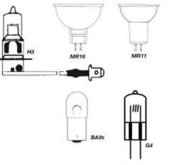 Quartz Halogen Bulb 12V 55w