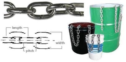 S/S gen link chain per meter - 13mm