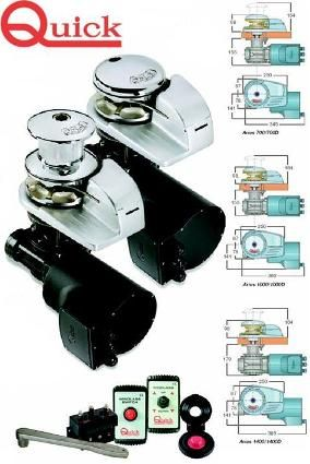 QUICK ANCHOR WINCHES Vertical Winch - Aries 1000 (25-50mm deck)