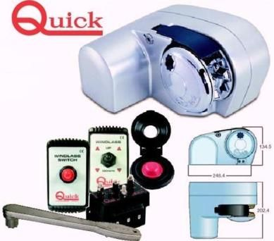 Quick anchor Winches Horizontal Winch - 500 watt std and FreeFall