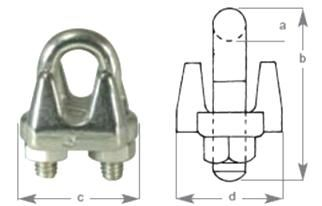 S/S Wire Rope Grip suits wire 19mm