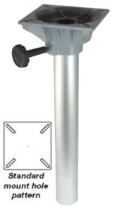 Marine seat Plug-In fixed Height Pedestal with swivel top