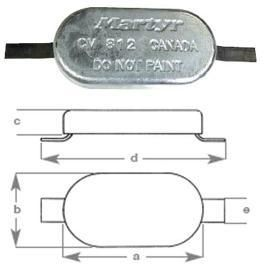 Oval Anodes with Strap