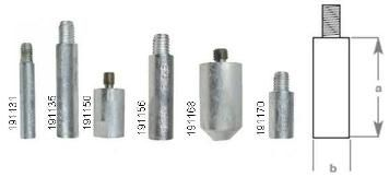 Engine Pencil Anode Replacements - with Plug