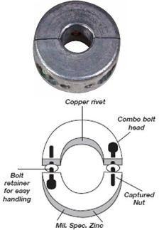 "Propeller Shaft Anode 3/4"" to 1 3/4"""