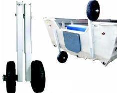 Transom dinghy wheels