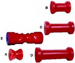 Boat Rollers Poly Red Rollers