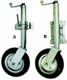 Jockey wheel heavy duty solid wheel swivel mount