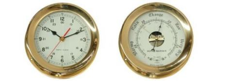 Marine Brass Clocks / Barometers Small and Large