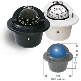 Marine Explorer Flush Mount Compass Black