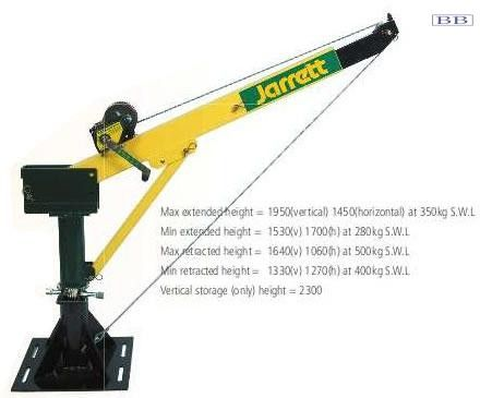 Backsaver cranes by Jarret 500kg Electric Crane Lift and Turn STD colour or White F19001E12 F19001E24