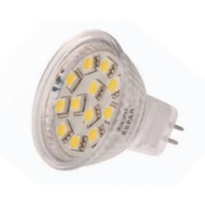 M16 led globes 10-30 volt 15 SMD Warm white