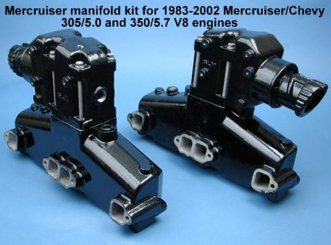 Marine manifolds Risers kit small block V8 to suit Mercruiser Generic