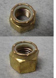 Prop Shaft brass Nut Nyloc 3/4 UNC