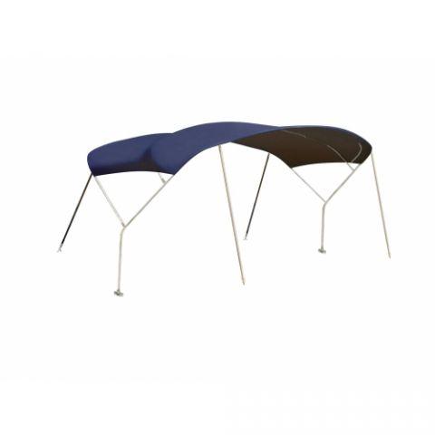 Sailboat  bimini cover Sunbrella Blue Stainless Steel frame 3 bow