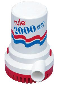Marine RULE 2000 BILGE PUMPS 12v or 24v