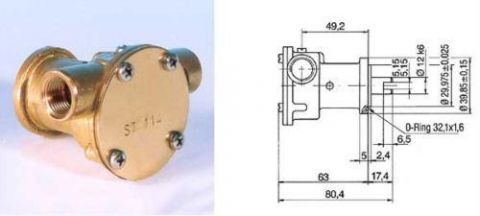 Cooling pump F35B-9 -10-35157 Replaces Volvo Bukh