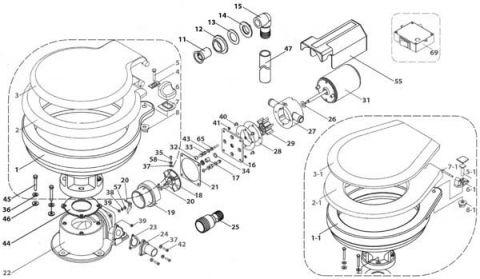 TMC Clean water pump rubber impeller (29) sp607